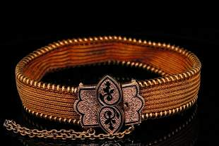 """Victorian 20K Yellow and Rose Gold 6"""" Bracelet"""