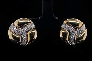 Damiani 0.75ctw VS1-VS2/G-H Diamond & 18K Earrings