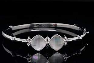 Stephen Webster Mother of Pearl and Sterling Bangle