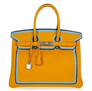 Hermes Limited Edition Tri-Color Birkin 35 W/Box