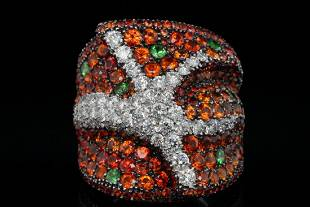 Maggioro 10.50ctw Sapphire, 2.00ctw Diamond 18K Ring