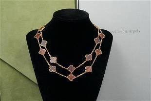 Van Cleef & Arpels Alhambra 18K/Letterwood Necklace