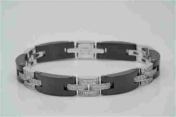 Cartier 1.65ctw Diamond, Ceramic and 18K Bracelet