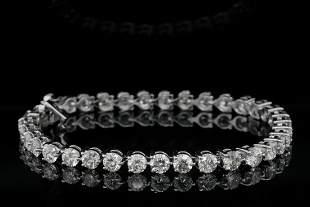 10.50ctw Diamond and 14K White Gold Tennis Bracelet