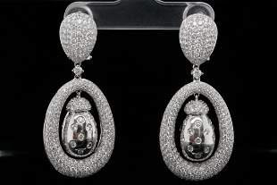 7.00ctw VS2-SI1/G-H Diamond & 18K White Gold Earrings
