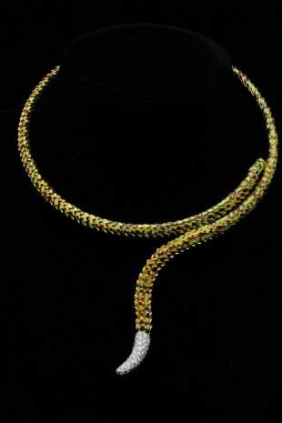 Roberto Coin 1.00ctw Diamond 18K Cobra Necklace