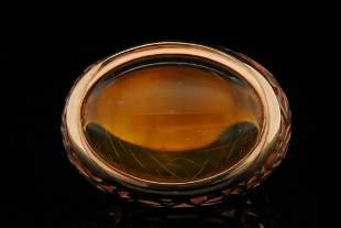 Pomellato Arabesqua Amber & 18K Rose Gold Ring