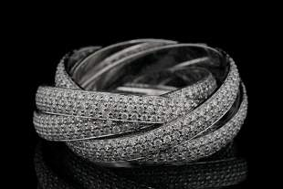 Tiffany & Co. 4.75ctw VS1-VS2/F-G Diamond & 18K Ring