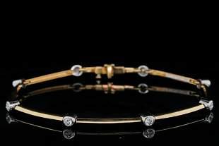 Tiffany & Co. 0.40ctw Diamond, Platinum/18K Bracelet
