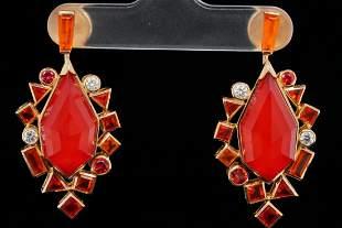 Stephen Webster Sapphire & Fire Opal 18K Earrings