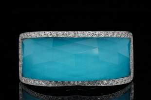 Stephen Webster Diamond, 18K, Turquoise & Quartz Ring