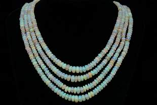 Mikawa 290ctw Opal, 0.60ctw Diamond and 18K Necklace