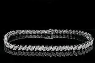 "1.35ctw SI1-SI2/G-H Diamond and 14K 7.25"" Bracelet"