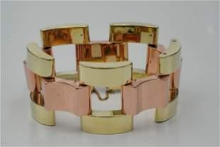 Tiffany & Co. 1940s Solid 14K Tire Track Bracelet