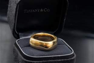 Tiffany & Co. 2003 18K Yellow Gold Square Band Ring