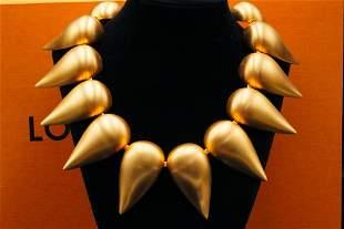 Louis Vuitton Parure Petale Gold Tone Collar Necklace