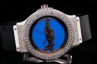Hublot MDM F-16 Fighting Falcon Diamond & 18K Watch