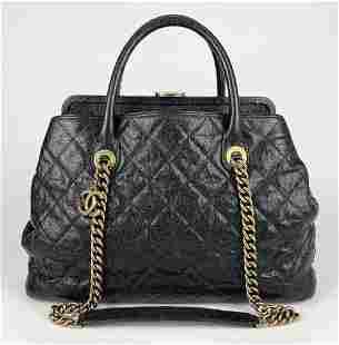 Chanel Glazed Caviar Large Frame Top Handle Bag