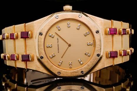 Audemars Piguet Royal Oak Ruby 33mm 18K Watch