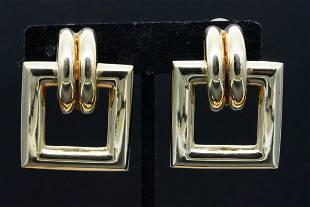 Tiffany & Co. 1970s 14K Door Knocker Ear Clips
