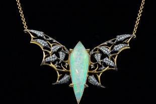 Stephen Webster 2.00ctw Diamond 18K Bat-Moth Necklace