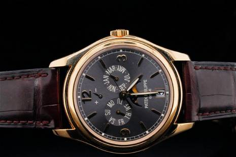 Patek Philippe Annual Calendar Moon Phase 18K Watch