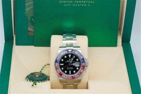 "Rolex ""Pepsi"" GMT Master II 40mm Watch New in Box"
