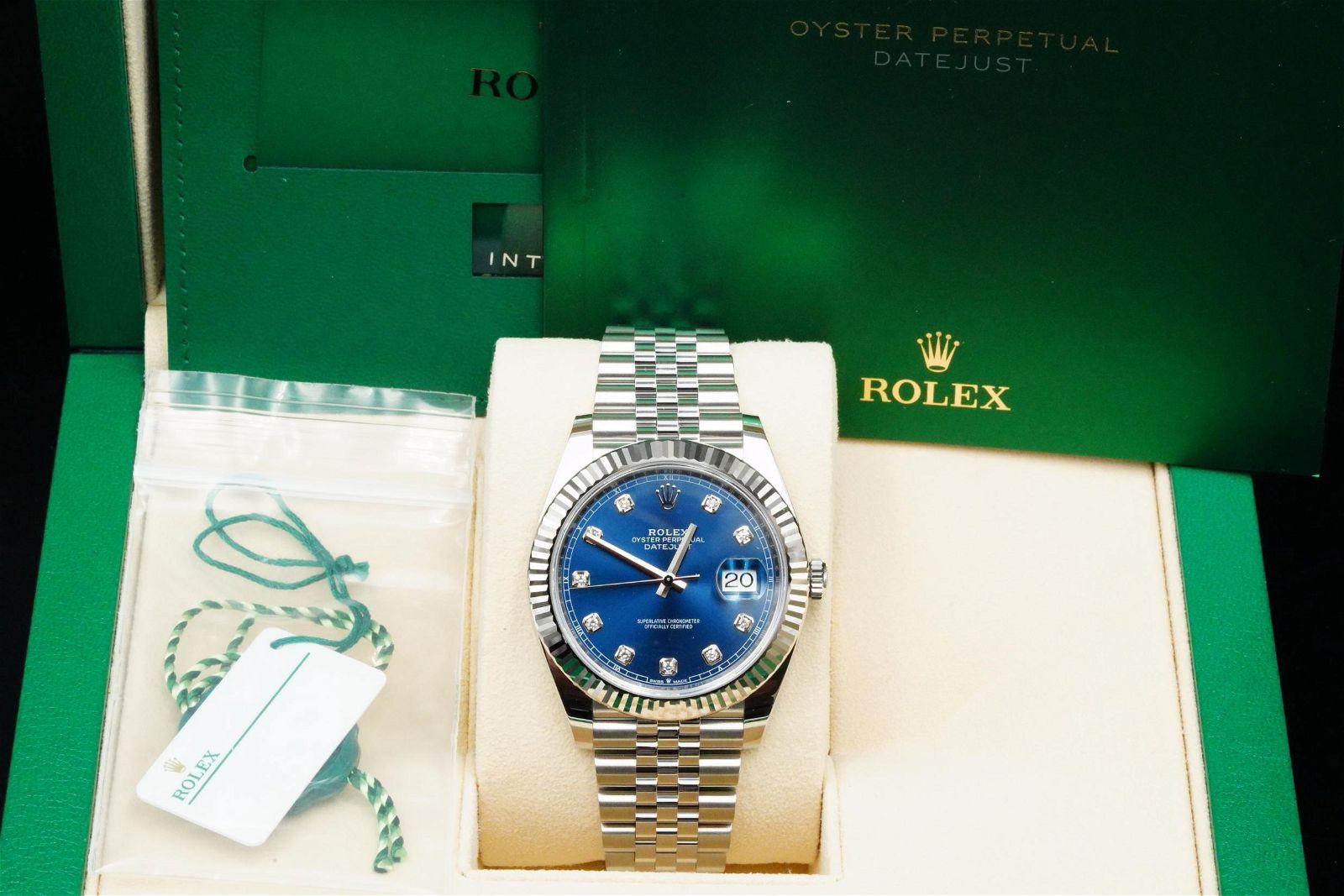 Rolex 2020 Datejust 41mm SS/18K W/Blue Diamond Dial