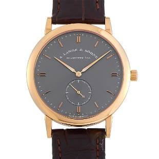 A. Lange & Sohne Saxonia 37mm 18K Rose Gold Watch
