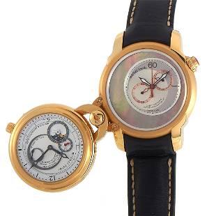 Michel Jordi Heritage Twins Oro Giallo 45mm 18K Watch