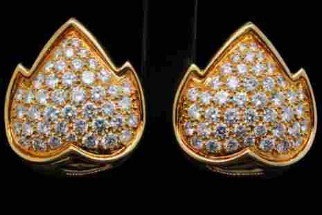 Van Cleef & Arpels 4.50ctw Diamond and 18K Ear Clips