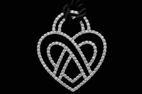 Poiray 3.75ctw Diamond, 18K & Silk Cord Necklace