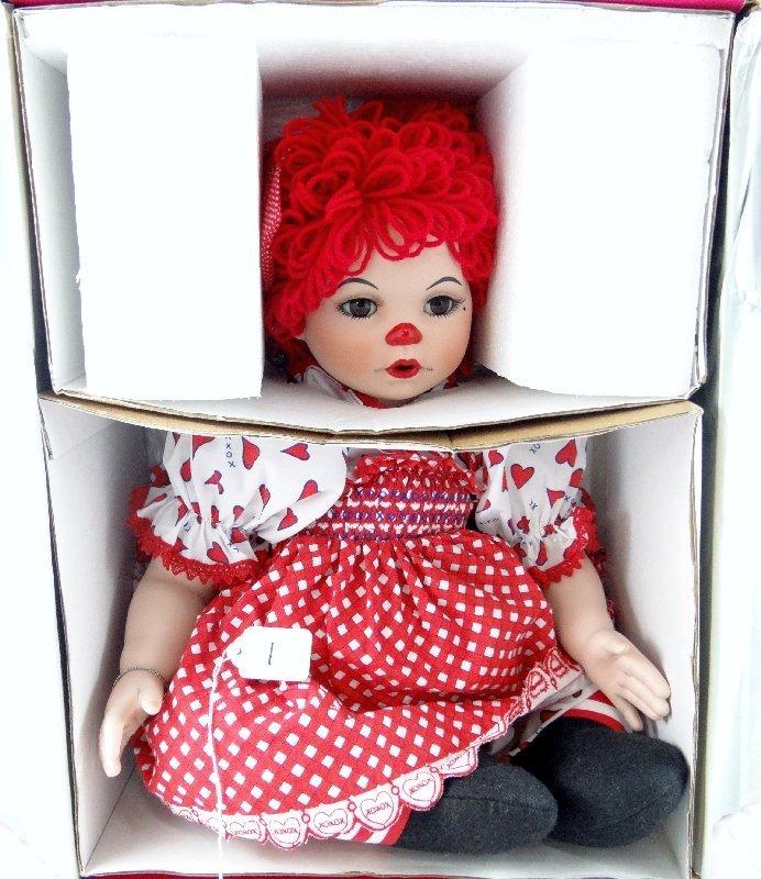 1: Marie Osmond Collectible Porcelain Raggedy Ann Doll