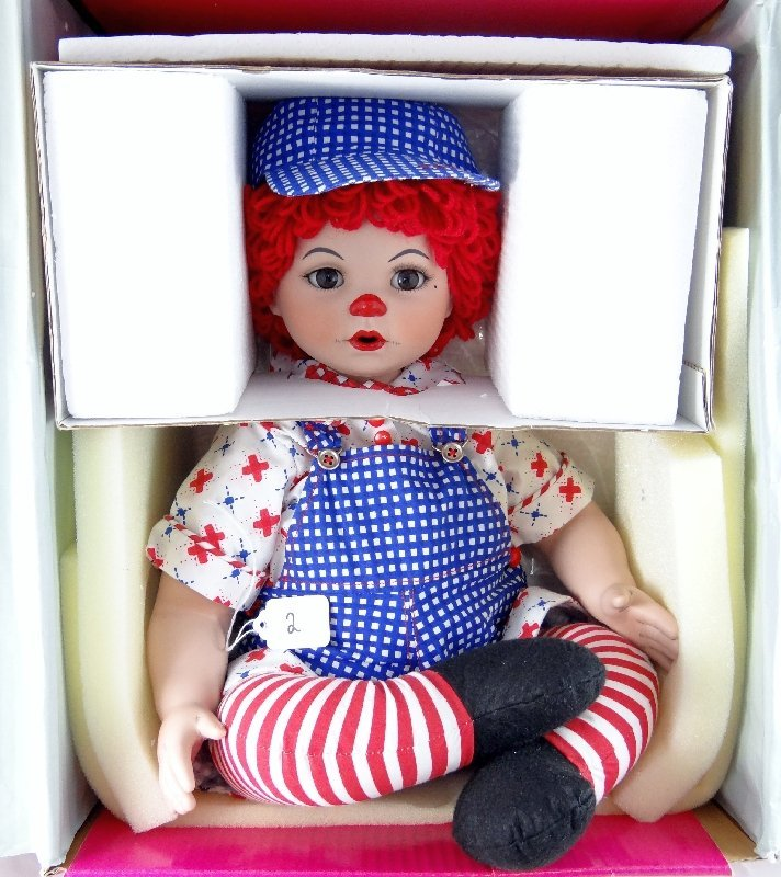2: Marie Osmond Collectible Porcelain Raggedy Andy Doll