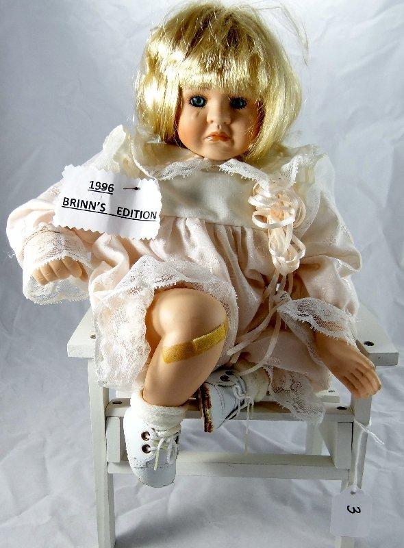 "3: Brinn's 1996 ""Pouting Priscilla"" Porcelain Doll"