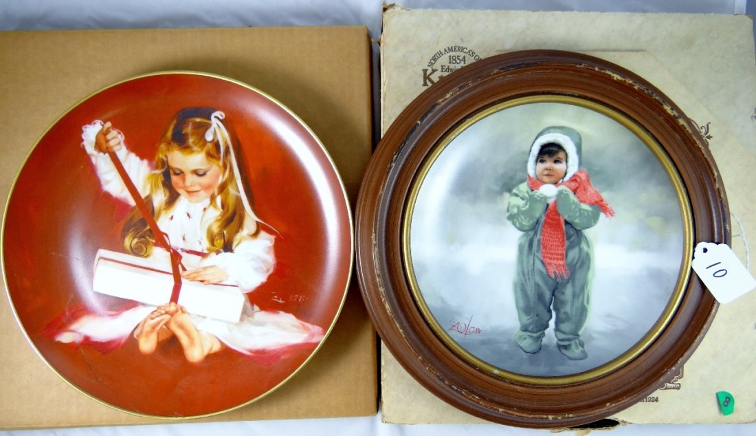 10: (2) Pemberton & Oakes Plates by Zolan *Signed & Num