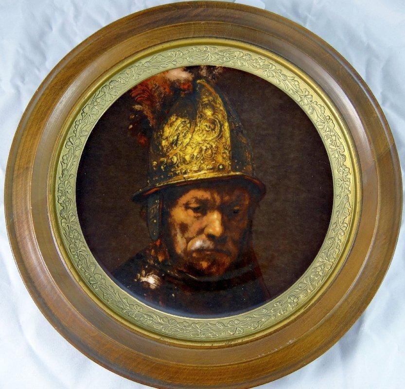 "11: Gorham ""Man With a Gilt Helmet"" German Plate W/COA"