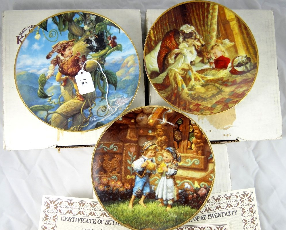 12: Lot of (3) Knowles Porcelain Limited Edt. Plates