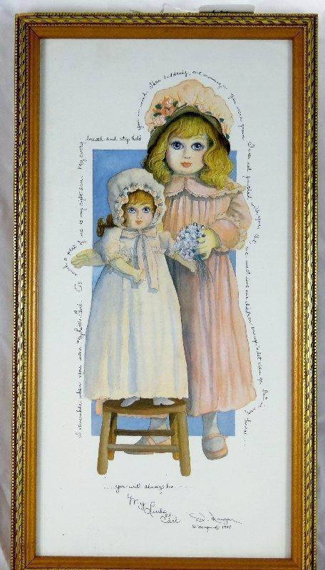 14: 1987 D. Morgan Artist Framed Print