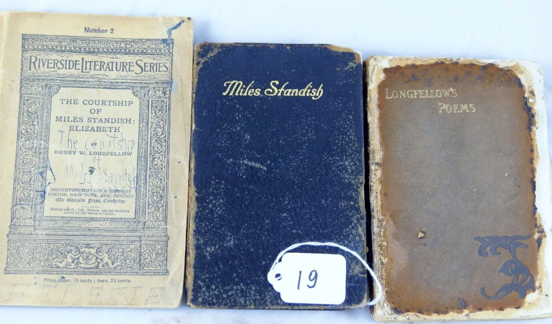 19: Lot of (3) Vintage Henry Longfellow Books of Poems