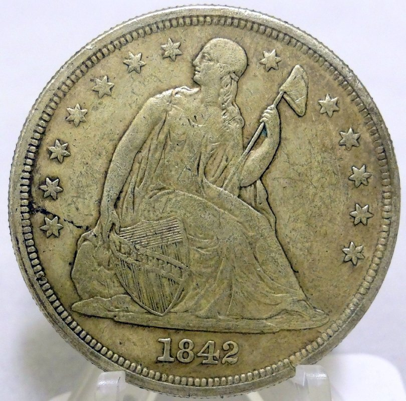 4: 1842 Seated Liberty Dollar *Low Mintage*