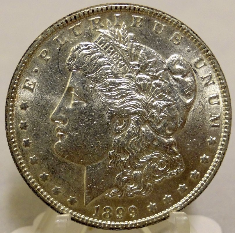 5: 1899-P Morgan Silver Dollar MS Coin
