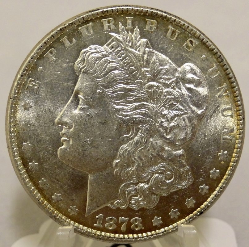 "9: 1878-P Morgan Silver Dollar""7-TF DBLD"""