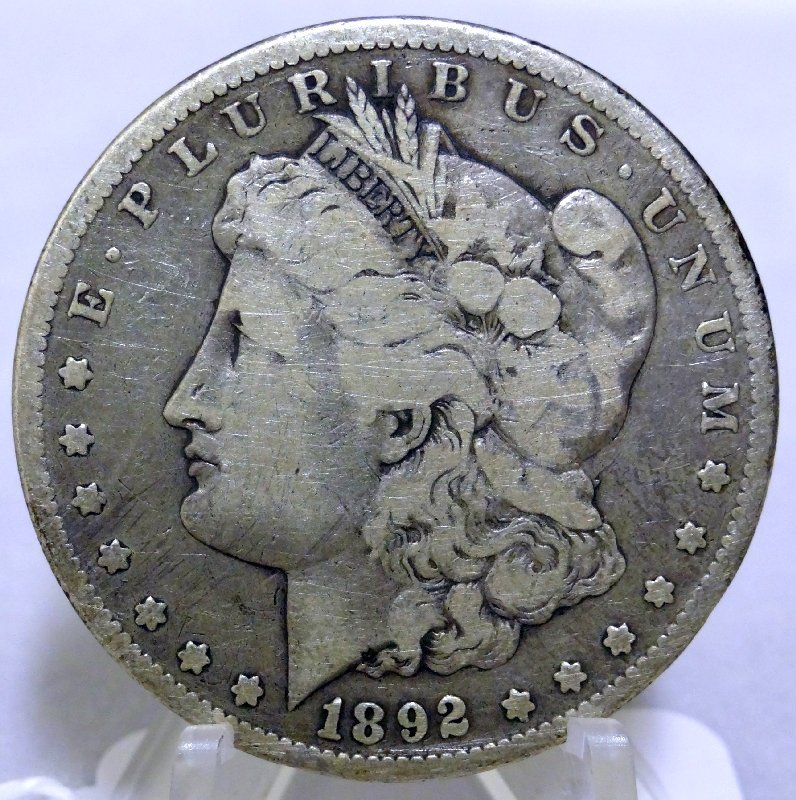 14: 1892-CC Morgan Silver Dollar *Key Date*