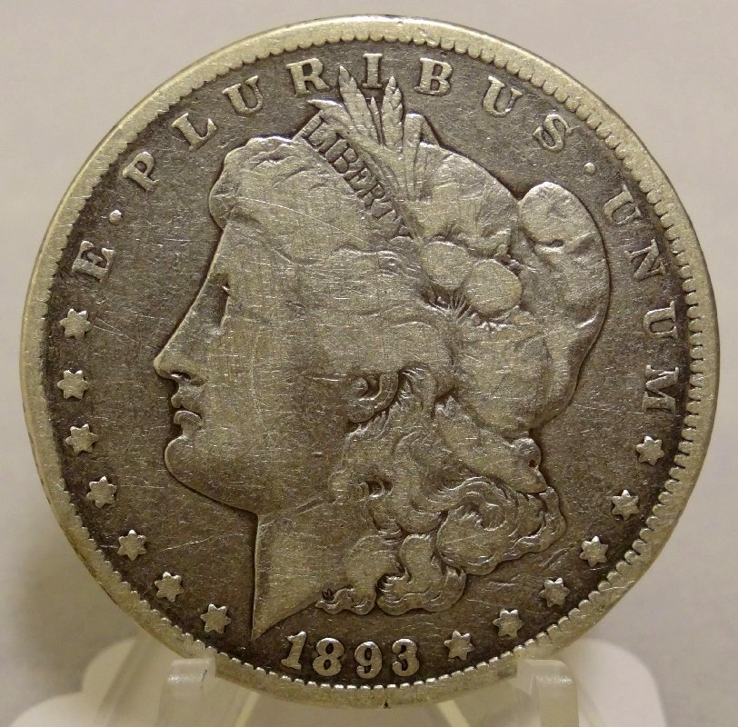 17: 1893-CC Morgan Silver Dollar *RARE Key*