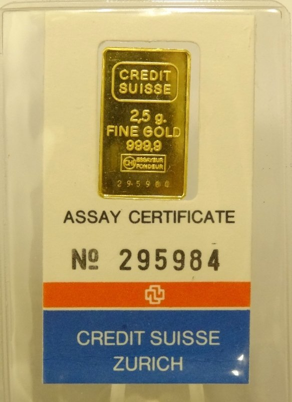 23: 2.5 Gram .9999+ SOLID GOLD Bar
