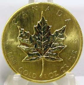 28: 1982 .9999 Fine Gold $50 Canada-Maple Leaf