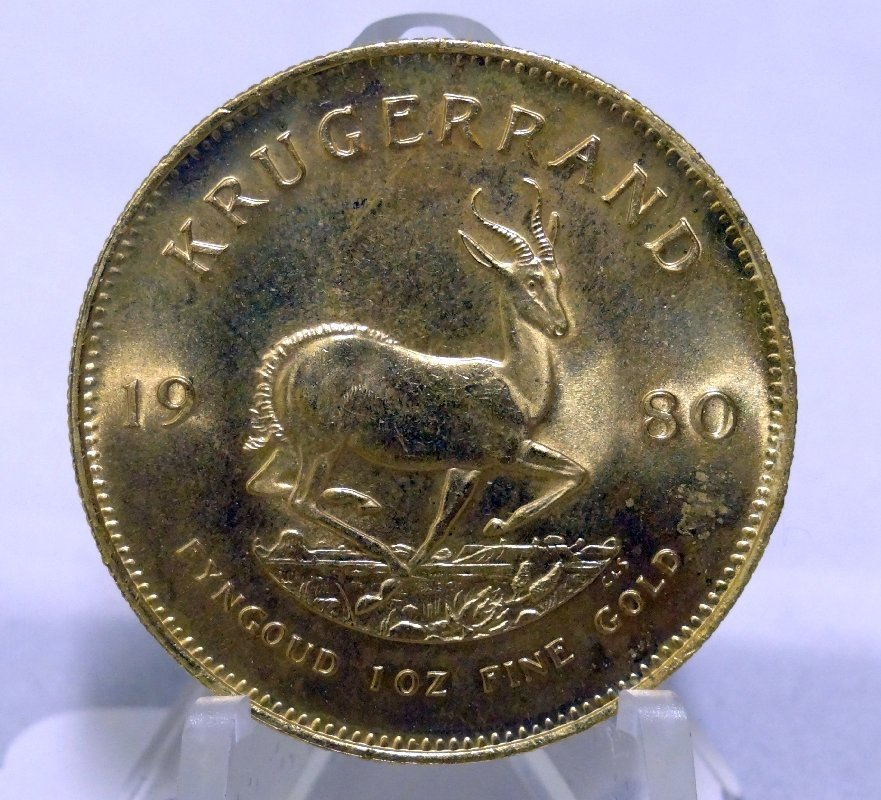 127: 1980 Krugerrand SOLID GOLD Coin 34 Grams