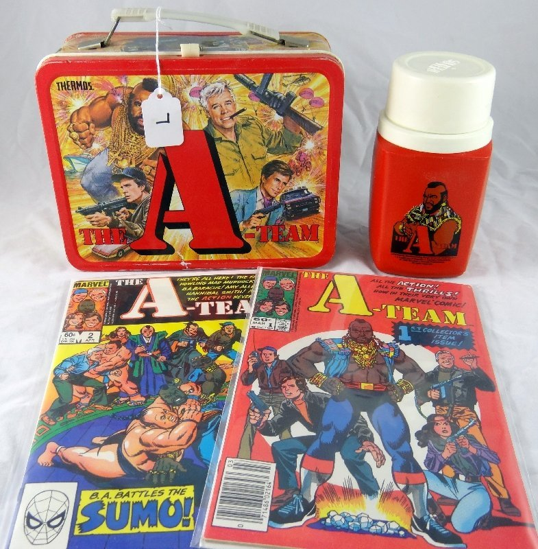 """7: """"The A Team""""Tin Lunchbox,Thermos & Comics"""