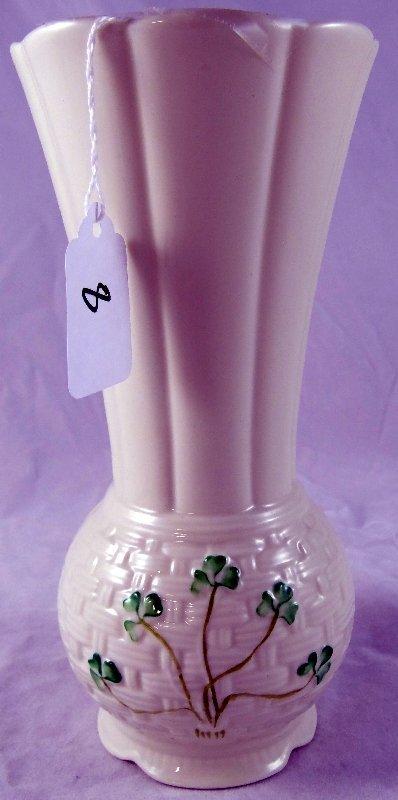 8: Vintage Belleek Ireland Flower Vase